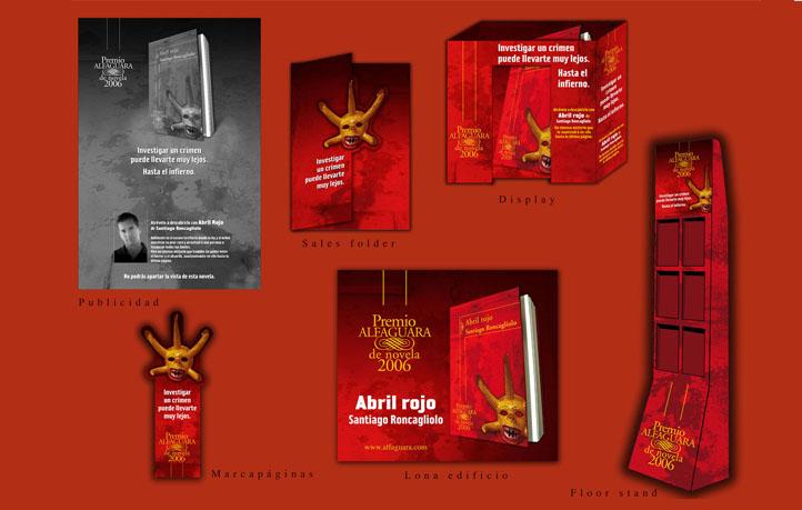 diseno campanas publicidad piezas punto de venta abril rojo alfgaguara
