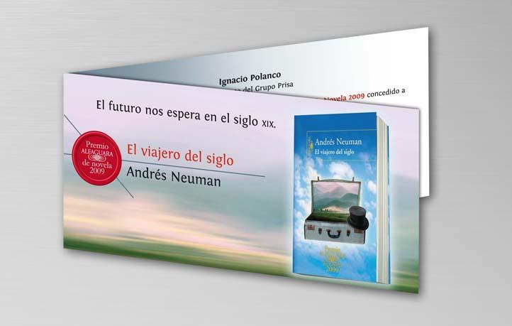 diseno invitaciones premio alfaguara novela