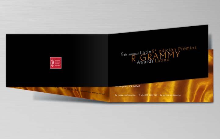 diseno invitaciones premios grammy latinos