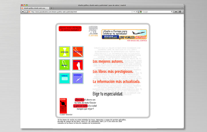diseno campanas publicidad on line banners microsites elsevier