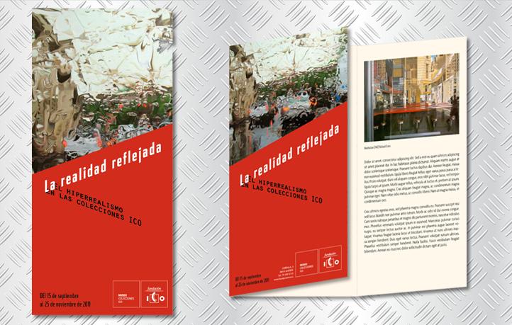 diseno identidad corporativa folletos exposiciones museo ico