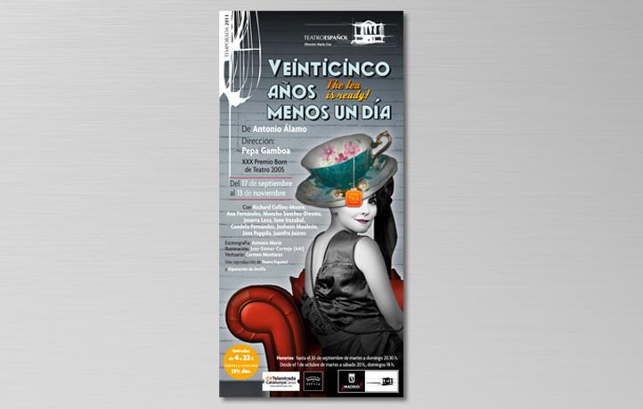 diseno piezas publicitarias punto venta flyers teatro espanol madrid